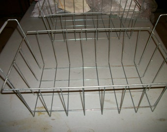 Large Wire Basket  w handles Industrial decor Great Storage   50% off  Sale