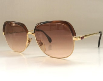 70s Vintage German Tortoise Shell Gold Metal Sunglasses