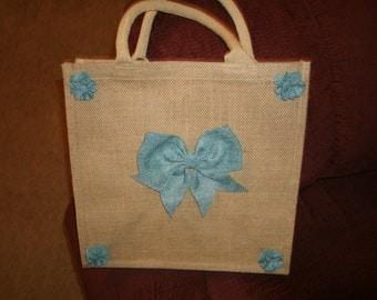 Jute Bag with interchangeable burlap decorations