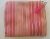 African Pouch, Coin Purse in Pin Stripe