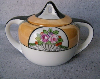 Sugar Bowl Noritake China Hand Painted Vintage