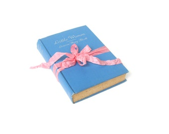 Little Women by Louisa May Alcott, Grosset & Dunlap, Vintage Little Women Book, Little Women Book Decor, Blue Book Decor, Blue Wedding Decor