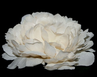 Small Antique White or Cream Peony - Artificial Flower - Silk Flower Heads