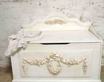 Painted Cottage Shabby Tea-Stain Romantic Hope Chest