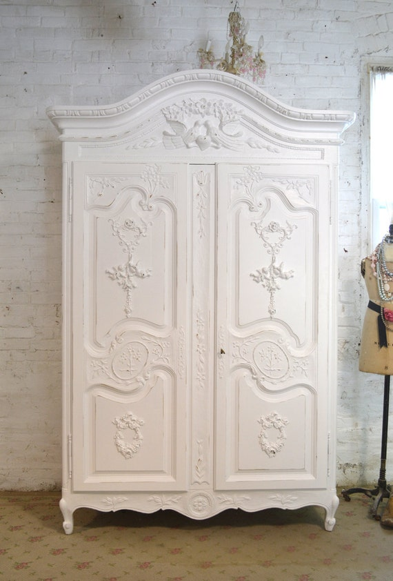 armoire painted cottage chic shabby french by paintedcottages. Black Bedroom Furniture Sets. Home Design Ideas