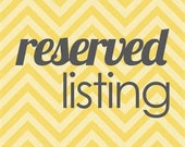 Reserved Listing for Cynthia.