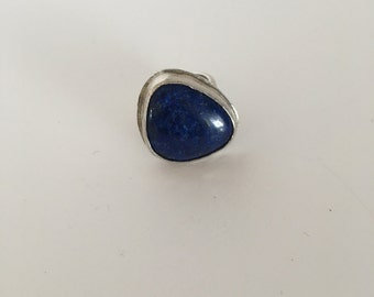 Silver and Lapis Ring