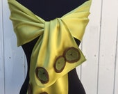 ACID Yellow with Whimsy Appliques