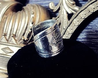 Silverware Jewelry spoon Ring size 9 Bird of Paradise Spoon Ring