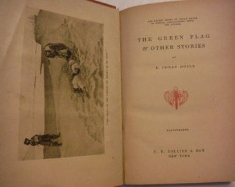 1900 The Green Flag & Other Stories Conan Doyle Antique Book Short Story Collection Mystery Suspense War