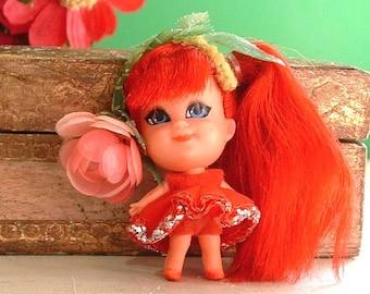 1967 Liddle Kiddles Kologne Perfume Kiddle ROSEBUD Rose Bud - Original outfit - 49 Years Old No Greening