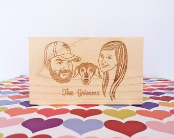 Portrait Stamp/ Family portrait stamp/ Face stamp/ Wedding invitation stamp/ Valentine gift/ Any texts on rubber stamp for FREE