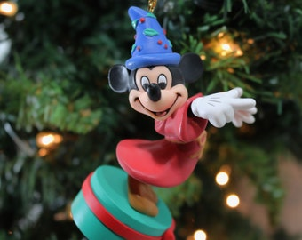 "1986 ""Abra Cadabra"" Grolier's Fantasia Mickey Original Vintage Disney Christmas Ornament With Box"