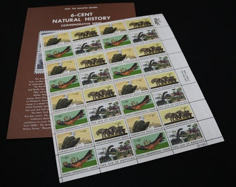 Sc.#1387-90 Natural History US Postage Stamps Dinosaur US Stamps Sheet Commemorative With Original Poster