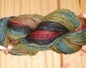 Handspun Wool Yarn Thick Thin - Forest Twilight - 168 Yards - 4.5 oz.
