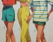 Vintage Top, Bra-Top, Shorts, and Pants Sewing Pattern Simplicty 2075 Size 15 summer