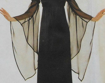 Gown Sewing Pattern UNCUT Simplicity 8619 Sizes 10-14 gothic