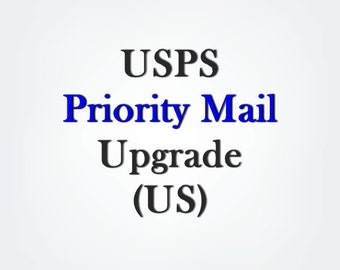 USPS flat rate Priority Mail upgrade for US ONLY, ships within 1-2 business days, please make sure your address and items are correct