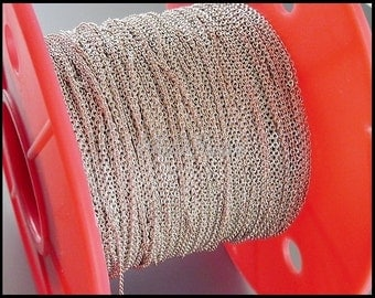 1 meter rhodium silver plated 1.7mm x 1.5mm flat cable chains, jewelry chain, silver chain B007-BR