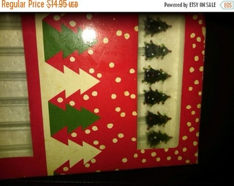 Christmas Tree-Holiday Drink Stirers-set of 6-New Cond--SALE--15% off  40 dollar and under vintage listings