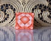 Polymer Clay Kaleidoscope Cane Orange, White, Brown No. 1080