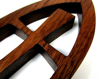 Cross / MID SIZE 7 inches / Walnut Wood