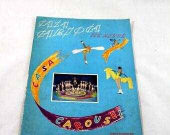 Vintage Ice Skating Program. Casa Carousel Ice Review. 1950s. Casa Carioca. Garmish Recreation Area. Armed Forces Recreation Center.