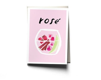 Rosé Greeting Card