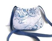 Ships Wheel purse, binoculars bag, nautical bag, Beach Lover Gift, Denim Shoulder Bag, Small Shoulder Bag, Handmade bag, caroljoyfashions77