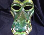 Crocodile, Alligator, or Dragon Paper Mache Mask