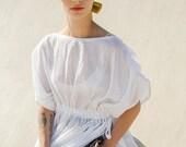 Winter Sale 15% Off!!! Silk Cotton chifon dress tunic with waist tying