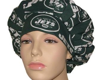 Scrub Hats - New York Jets Fabric