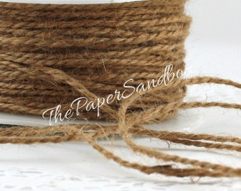 """Narrow Jute String, Cord, 1/16"""" wide Ribbon by the yard, Weddings, Crafts, Home Decor, Gift Wrapping, Party Supplies, Jewelry Supplies"""