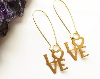LOVE Dangler Earrings