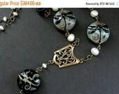 VALENTINE SALE Dragonfly Necklace. Statement Necklace. Turquoise Necklace. Lampwork Glass Necklace. Bronze Necklace. Handmade Necklace.