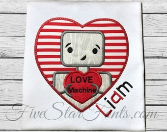 Love Machine Robot Applique
