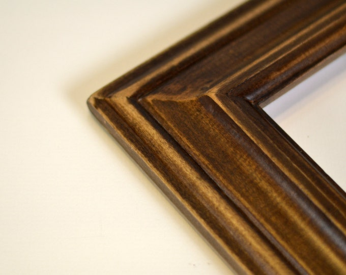 Vintage Color of Your Choice in Mulder Style - Choose your small frame size: 3x3, 2x6, 3.5x5, 4x5, 4x6, 5x5, 5x7, 6x6, 6x8, 7x7, 4x10 inches