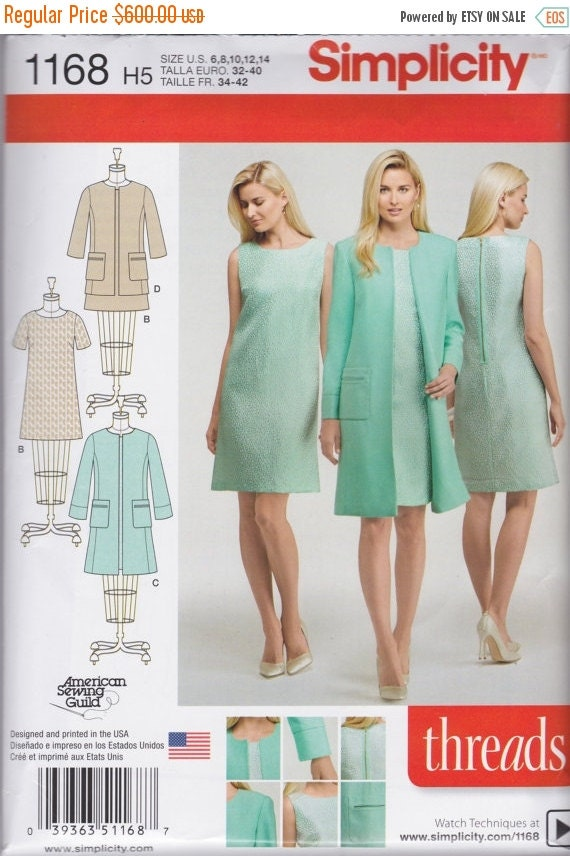 Simplicity Pattern 1168 Easy Shift Dress 2 Lengths by ... - photo#5