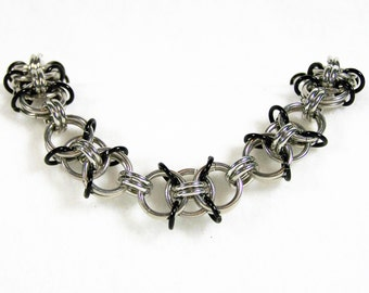 Chainmaille Bracelet, Chainmaille Jewelry, Chain Link Bracelet, Silver Bracelet, Aluminum Bracelet, Gift Bracelet, Chain Mail Bracelet