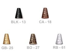 TierraCast Hammertone Tall Cone - choose from black, antique copper, bright gold, brass oxide or bright rhodium