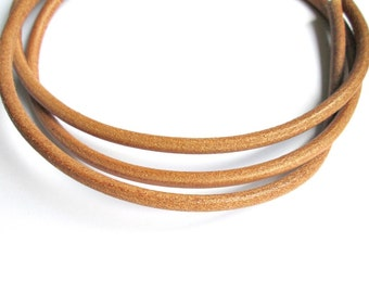 5mm greek leather cord, natural leather cord, round quality leather cord, 1m / 1.09 yard