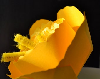 Yellow Daffodil - Realistic 3D Paper Flower Sculpture