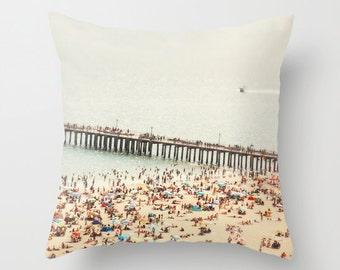 Throw Pillows - Gift for Women // Beach Beach Hut Decor // Beach Pillow, Blue Pillows, Turquoise Pillows, Teal Pillows