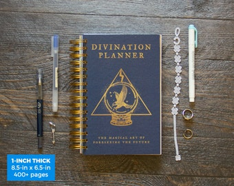 Divination Planner - Blue  / Daily / 1-Inch Thick (SUPER THICK) - Choose Your Month and Times!