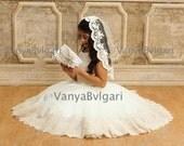 First Communion veil, Catholic veil, Lace veil, flower girl's veil, Holy Communion veil, Baptism veil, Confirmation veil