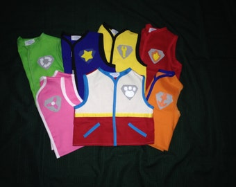 ADULT Paw Patrol inspired Pup Vests