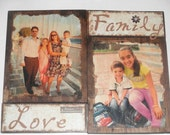 Paige - Custom made photo collage, two 8x10 pictures and one word plaque