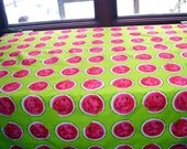 Watermelon Kitchen Tablecloth, 44 x 66 Chartreuse Hot Pink Slices of Watermelon, Outdoor Picnic Table, Picnic, Cottage Decor, Rustic Country