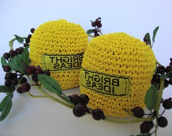 Graduation Gift, Coworker Gift, Thank-You Gift, Stress Ball, Hacky Sack, Yellow Bean Bag, Bright Ideas, Office Toy, FREE SHIPPING