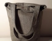 Wool Bag-Brown-Double Straps-Zipper Clouse-5 Large Pockets